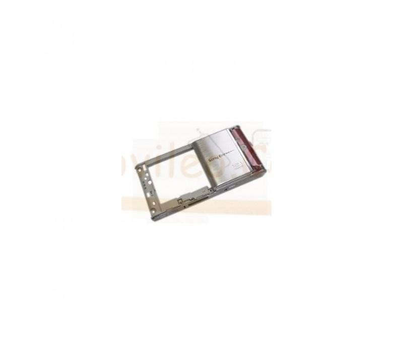 Carcasa Chasis Plata Original para Sony Ericsson Satio U1i - Imagen 1
