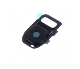 Embellecedor y cristal cámara Samsung S7 G930 S7 Edge G935 negro