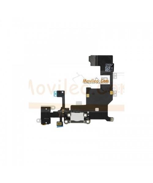 Cable flex con Conector de carga conector de auriculares blanco micrófono y cable RF de iphone 5 - Imagen 1