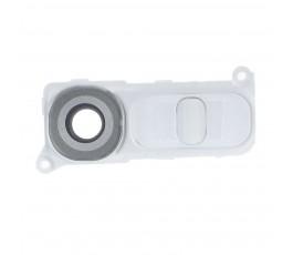 Cristal cámara trasera embellecedor y botones LG G4 H815 blanco