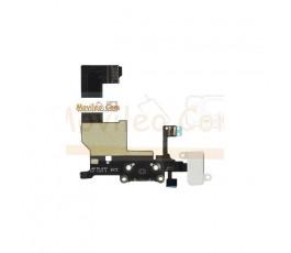 Cable flex con Conector de carga conector de auriculares blanco micrófono y cable RF de iphone 5 - Imagen 2