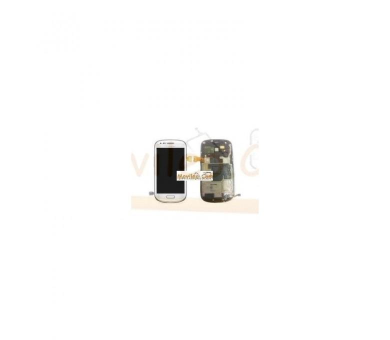 Pantalla Completa Blanca Con Marco Samsung Galaxy S3 Mini i8190 - Imagen 1