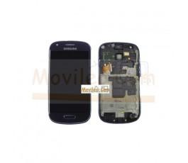 Pantalla Completa Azul Con Marco Samsung Galaxy S3 Mini i8190 - Imagen 1