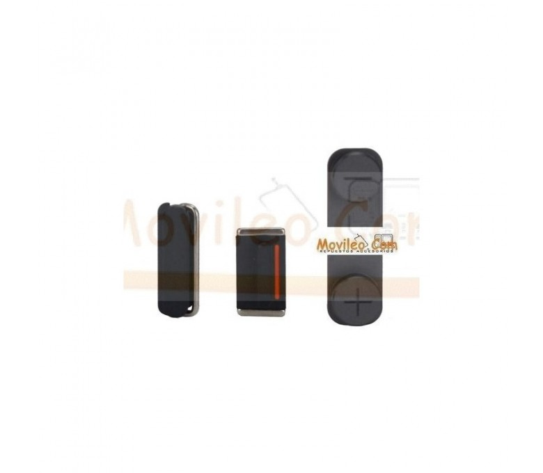 Set de 3 botones para iPhone 5 en Negro - Imagen 1