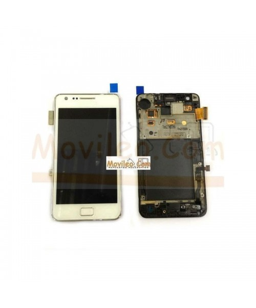 Pantalla Completa Blanca Con Marco Samsung Galaxy S2 i9100 - Imagen 1