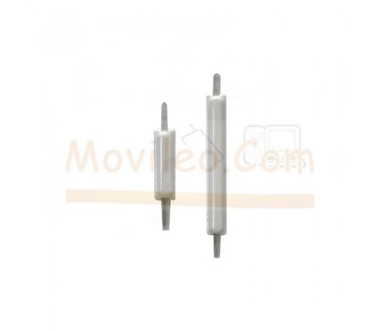 Boton Volumen y Encendido Exteriores Blancos para Samsung Galaxy S2 i9100 - Imagen 1