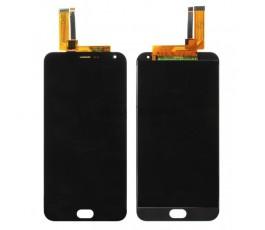Pantalla completa tactil y lcd display Meizu M2 Note negra
