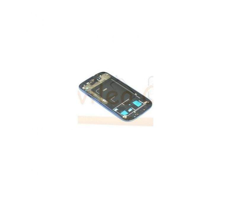 Marco Frontal Chasis Azul para Samsung Galaxy S3 i9300 - Imagen 1
