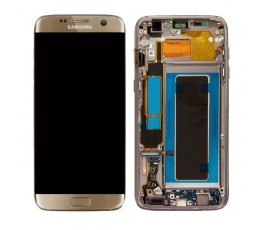 Pantalla Completa para Samsung Galaxy S7 Edge G935 Dorada