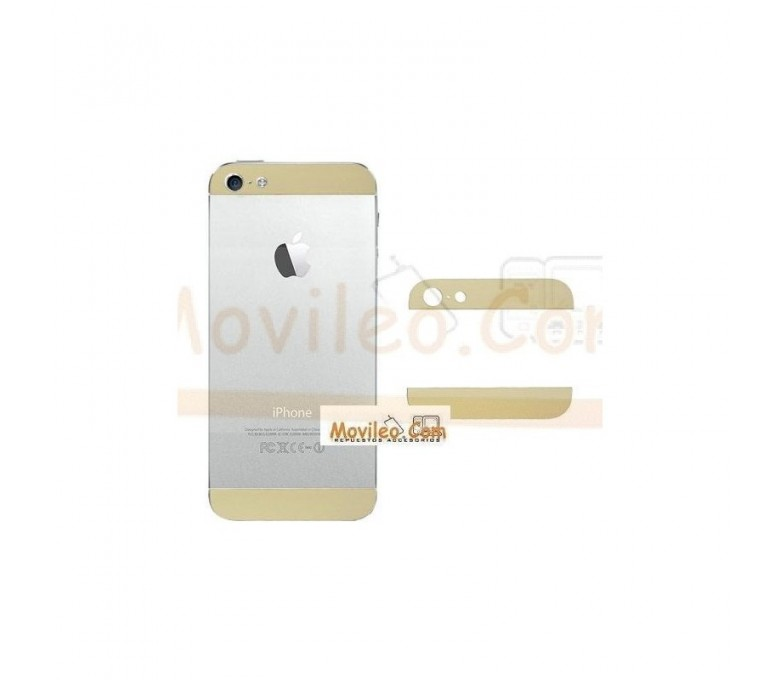 Carcasa embellecedor superior e inferior oro para iPhone 5 - Imagen 1