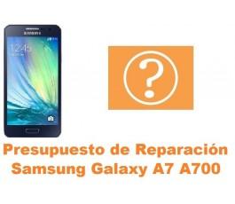 Presupuesto de reparacion Samsung Galaxy A7 A700