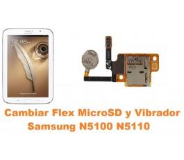 Cambiar flex micro sd y vibrador Samsung Note 8.0 N5100 N5110