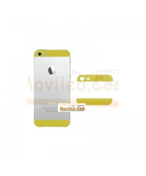 Carcasa embellecedor superior e inferior amarillo para iPhone 5 - Imagen 1