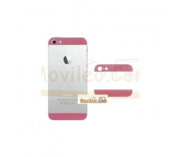 Carcasa embellecedor superior e inferior rosa para iPhone 5