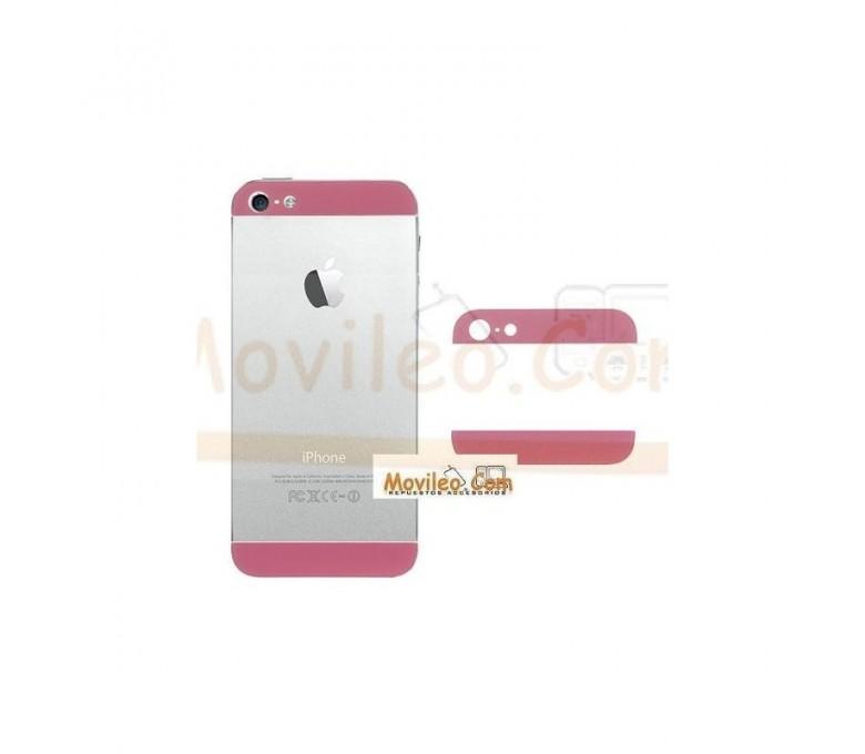 Carcasa embellecedor superior e inferior rosa para iPhone 5 - Imagen 1