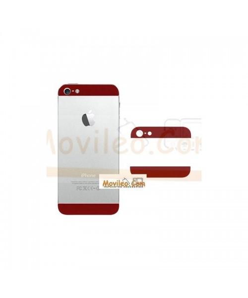 Carcasa embellecedor superior e inferior rojo para iPhone 5 - Imagen 1