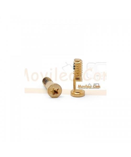 Set de 2 tornillos Dorados para conector lightning de carga y accesorios para iPhone 5 - Imagen 1