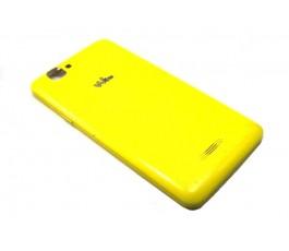 Tapa trasera para Wiko Rainbow S5500 amarilla