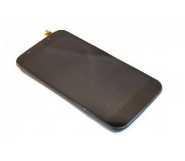 Pantalla completa tactil lcd y marco Alcatel Vodafone Smart 4 985N negra