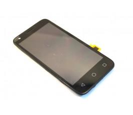 Pantalla completa tactil lcd display y marco Alcatel Vodafone 6 VF795 negra