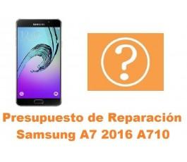Presupuesto de reparacion Samsung Galaxy A7 2016 A710