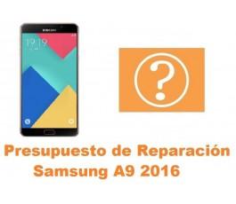 Presupuesto de reparacion Samsung Galaxy A9 2016 A910