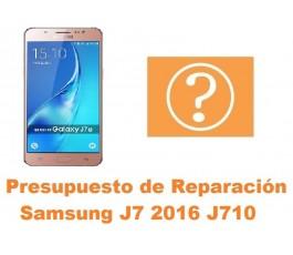 Presupuesto de reparacion Samsung Galaxy J7 2016 J710