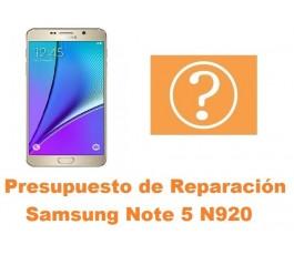 Presupuesto de reparacion Samsung Galaxy Note 5 N920