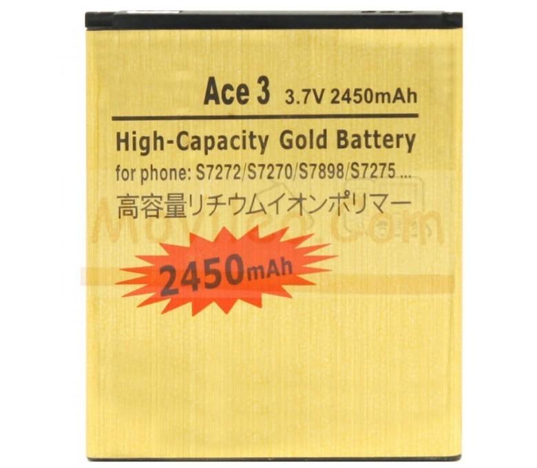 Bateria Gold de 2450mAh para Samsung Galaxy Ace 3 s7270 s7275 s7275r - Imagen 1