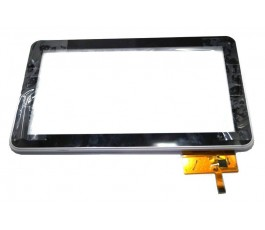 Pantalla tactil con marco blanco para Lazer MID1506CM