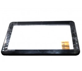 Pantalla tactil con marco para Point Of View Tab-P1026 negra