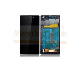 Pantalla Completa Con Marco Negro para Sony Xperia Z1 L39 L39H - Imagen 1