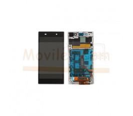 Pantalla Completa Con Marco Blanco para Sony Xperia Z1 L39 L39H - Imagen 1