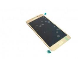 Pantalla completa lcd y tactil para Samsung Galaxy A3 A300 dorada