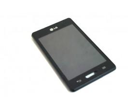 Pantalla completa lcd tactil y marco para Lg Optimus L4-II E440 negra