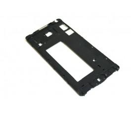 Carcasa intermedia para Samsung Galaxy A5 A500 negra de desmontaje