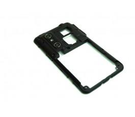 Carcasa intermedia para LG Optimus 3D P920 negro de desmontaje