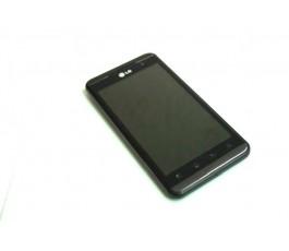 Pantalla completa lcd tactil y marco para LG Optimus 3D P920 negra de desmontaje
