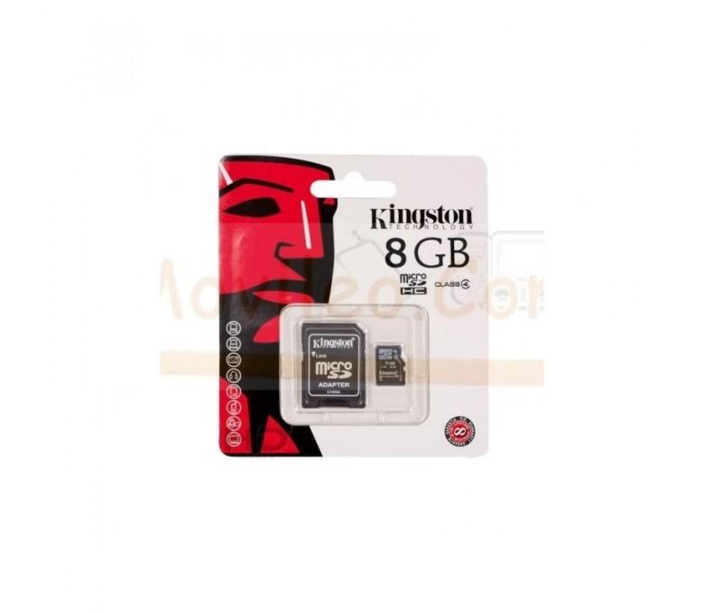 TARJETA MEMORIA MICROSD 8GB KINGSTON - Imagen 1