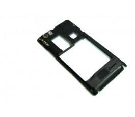 Carcasa intermedia para Sony Xperia Miro St23i negra
