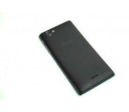 Tapa trasera para Sony Xperia J St26i negra de desmontaje