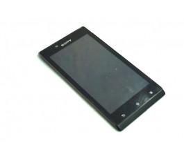 Pantalla completa lcd tactil y marco para Sony Xperia J St26i de desmontaje
