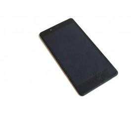 Pantalla completa lcd tactil y marco para Qilive MID55Z0 negra de desmontaje