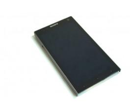 Pantalla completa lcd tactil y marco Sony Xperia S Lt26i gris original