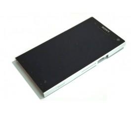 Pantalla completa lcd tactil y marco Sony Xperia S Lt26i blanca original