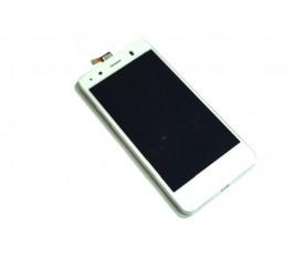 Pantalla completa lcd tactil y marco para Bq Aquaris A4.5 blanca original