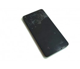 Pantalla completa lcd tactil y marco para Nokia Lumia 550 negra