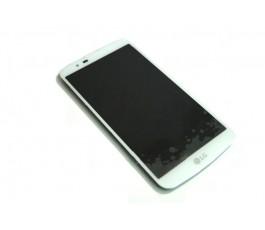 Pantalla completa lcd tactil y marco para LG K10 K420 K420N blanca