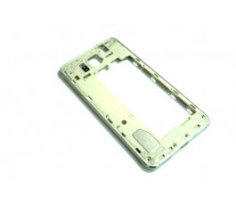 Carcasa intermedia para Samsung Galaxy G850F Alpha plata usado