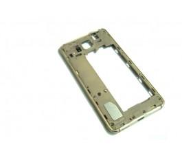 Carcasa intermedia para Samsung Galaxy G850F Alpha dorada usado